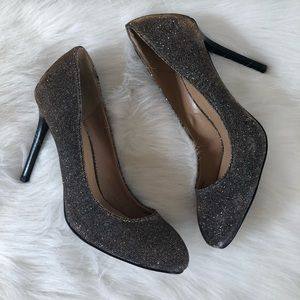 Banana Republic sparkle fabric heels